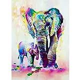 WACYDSD Puzzle Adulte 1000 Pièces Puzzle 3D Aquarelle, Animal, Samll, Éléphant, Enfants, Paquet, Décor, Hoom