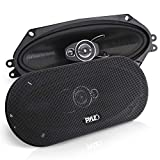 3-Way Universal Car Stereo Speakers - 300W 4' x 10' Triaxial Loud Pro Audio Car Speaker Universal OEM Quick Replacement Component Speaker Vehicle Door/Side Panel Mount Compatible - Pyle PL410BK (Pair)