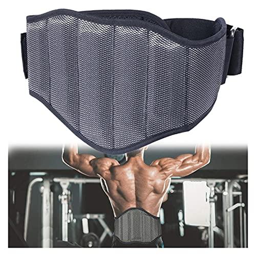 Faja Lumbar para Espalda Cinturón de elevación de pesas Cinturón trasero Cinturón de apoyo Fitness Entrenamiento Gimnasio Back Soporte Cinturón Gimnasio Cinturón Hombres Black Gym Hombres Entrenamient