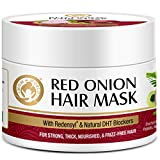 Mom & World Red Onion Hair Mask - With Redensyl and Natural Dht Blockers, For Strong, Thick, Nourished and Frizz Free Hair, 200 ml