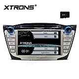 XTRONS 7 pulgadas HD pantalla táctil digital coche estéreo radio en el tablero reproductor de DVD GPS pantalla de navegación función de espejo para Hyundai Tucson ix35