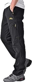 Outdoor Fleece Lined Windproof Hiking Pants Waterproof Ski Pants for Women H4409