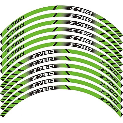 Etiquetas engomadas decorativas de la motocicleta Para K-awasaki Z750 Pegatina De Motocicleta Ruedas Delanteras Traseras Calcomanías Reflectantes A Prueba De Agua Calcomanía De Rayas De Llanta