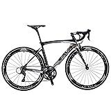 Sava Warwinds3.0 Bici da Strada Carbonio 700C Bicicletta da Strada in Fibra di Carbonio con Sistema di deragliatore Shimano Sora 18 Speed e Doppio V Brake (52cm, Grigio)