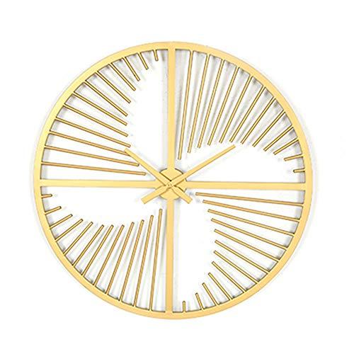 DATUI Oro Relojes de Pared del Arte Moderno del Hierro Reloj de Pared silenciosa for no Corre y con Pilas de la Pared del Reloj de la Sala de Estar Cubierta Habitación Hotel