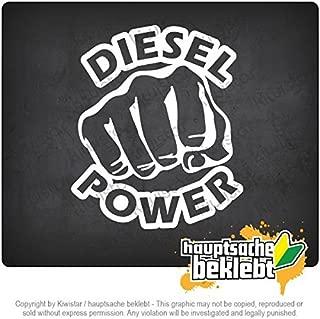 ディーゼルパワーストライク拳 Diesel power strike fist 12cm x 10cm 15色 - ネオン+クロム! ステッカービニールオートバイ