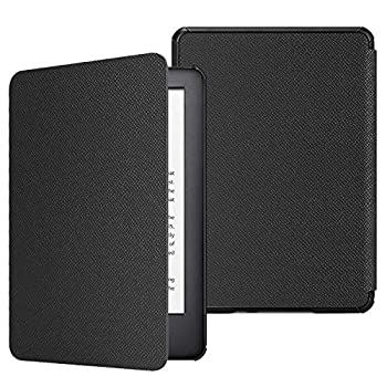 Fintie Slimshell Case for All-New Kindle  10th Generation 2019 Release  - Lightweight Premium PU Leather Protective Cover with Auto Sleep/Wake  NOT Fit Kindle Paperwhite or Kindle 8th Gen  Black