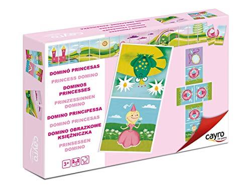 Juguetes Cayro - Puzzle Domino Reversible, con diseño de Princesas, 21 x 15 x 4 cm