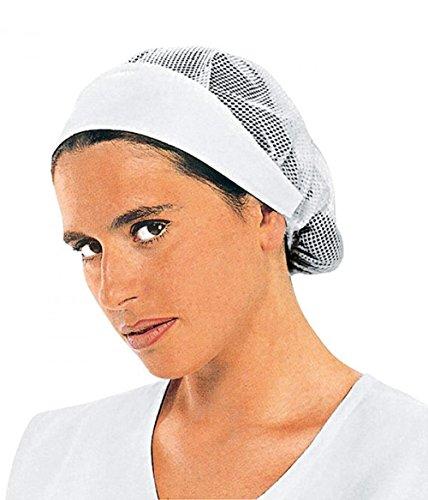 Isacco 081000 Donna Cuffia, Bianco