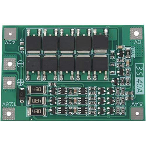 TEEAN 3S 40A para Destornillador 12V Li-Ion 18650 BMS Pcm Tablero De Protección De La Batería BMS Pcm con Equilibrio Módulo De Paquete De Celda De Batería Liion