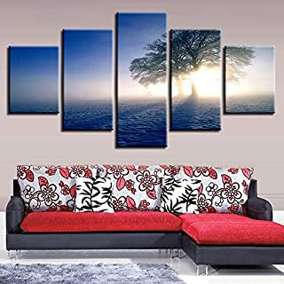 ASDFGHT Home Decor Canvas HD Prints Pictures For Living Room 1 Pieces Lonely Tree In The Snow Painting Modular Wall Art Po...