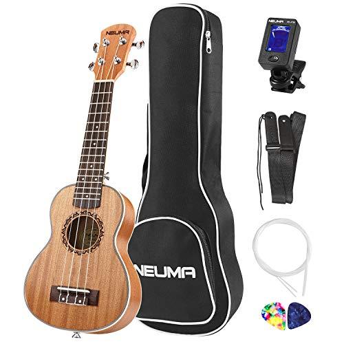 NEUMA Sopran Ukulele 21 Zoll Professional Ukulele Hawaii Gitarre Aquila Saiten mit Anfänger Starter...