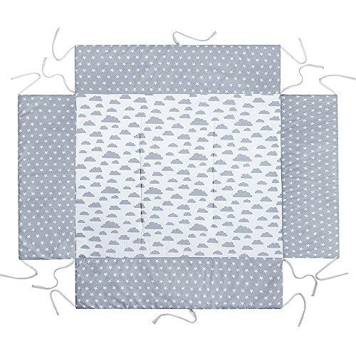 LULANDO Tour de parc pour Bébé avec tapis 75x 100cm