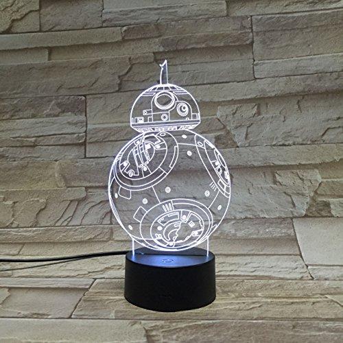 Star Wars BB-8 Lampada a Led, Luce notturnacon variazioni di colore e presa USB