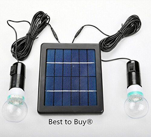 Best to Buy 5W Solar Panel DIY Lighting Kit, Solar Home System Kit, Portable Solar Charger with LED Light Bulb Flashlight as Emergency Light/Garage Cabin RV Wireless Lighting System/Camping
