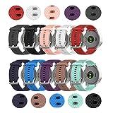 TenCloud Band Compatible with Garmin Vivoactive 4S Washable Silicone Straps Sport Wristbands for vivoactive 4S GPS Smartwatch