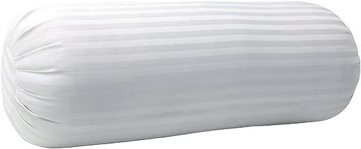 Blumfye Hotel Quality Set of 1 Bolster Pillows for Sleeping -1 Pcs (White Strips)