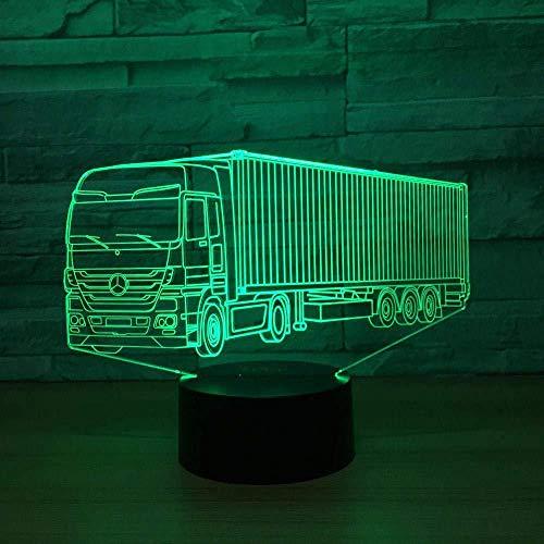 YOUPING Lámpara de ilusión 3D llevó luz de noche 7 colores cambio de camión grande modelado USB creativo visual led mesa del coche bebé Leep Ing accesorios regalos