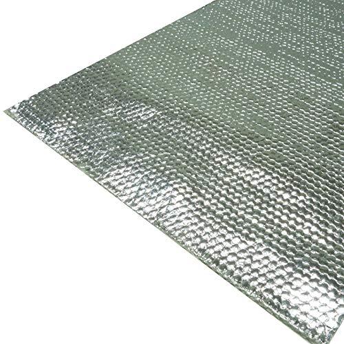 Schlauchland 100x20cm Alu-Fiberglas Hitzeschutzmatte selbstklebend *** Hitzeschutzband Turbo Auspuff Krümmer Isoliermatte Hitzeschutzfolie