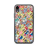 iPhone XR Pure Clear Case Cases Cover Sponge Bob Sticker Bomb