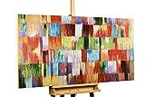 KunstLoft® Acryl Gemälde 'Eine Hommage ans Leben' 140x70cm | original handgemalte Leinwand Bilder XXL | Abstrakt Bunt Bunt | Wandbild Acrylbild Moderne Kunst einteilig mit Rahmen