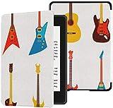 Toute Nouvelle Housse en Tissu résistant à l'eau Kindle Paperwhite (10e génération, Version 2018), Ensemble de Guitares électriques acoustiques pour Tablette de Style Plat