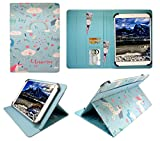 Sweet Tech Archos 101 Platinum 3G Tablet/Diamond Tab (2017) 10.1 Zoll Einhorn Universal Wallet Schutzhülle Folio (10-11 Zoll)