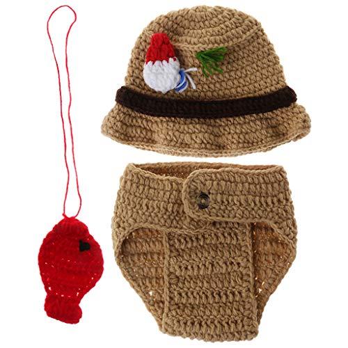 1 juego de disfraz de pescador para bebé, pantalones con sombrero de...