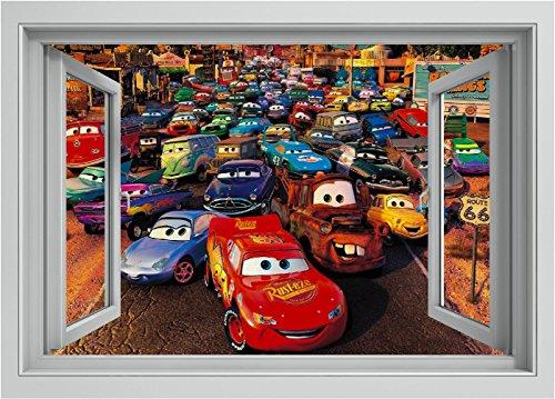 Pegatina de vinilo para ventana de coche – Rayo McQueen para pared,...