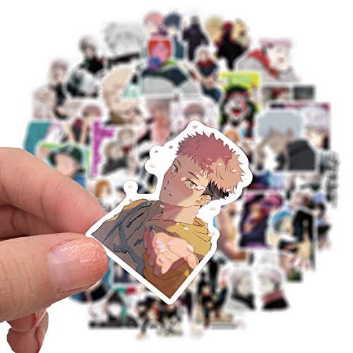 BLOUR 10/50 UdsNuevas Pegatinas de Anime Jujutsu Kaisen para Maleta monopatín portátil Equipaje Nevera teléfono Estilo calcomanía Impermeable