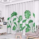 Estilo Nórdico Planta Salon Dormitorio Cortina Cortina De Tela De Pantalla Plana Moderno Minimalista Acabados,240 x 270 CM (W x H) x 2,A