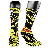 wwoman NUEVOS calcetines de compresión Cobra Kai para mujer Calcetines clásicos hasta la rodilla para hombres Calcetines largos deportivos Talla única