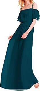 Chiffon Long Bridesmaid Dresses Off Shoulder Prom Evening Gowns Maxi Formal Party Gowns