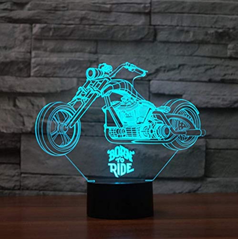 Xiadsk Schnelle und wütende 3D 8 Motorrad LED Nachtlicht Farbwechsel Tischlampe Methacrylat Kinderteller Licht Lamparas, Blautooth Musik Basis
