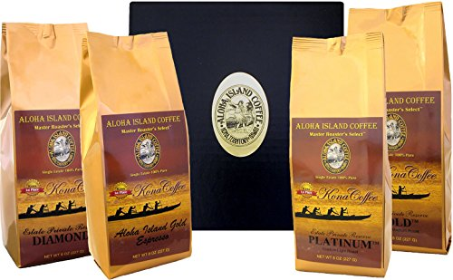 Kona Coffee of the Month Club, Six Months of 100% Kona Coffee, Gift for Mothers Day, Fathers Day, Birthday, Christmas