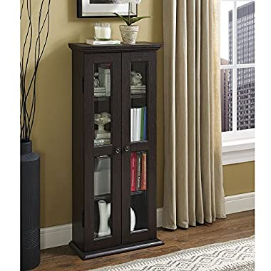 WE Furniture 41  Media Storage Cabinet, Espresso