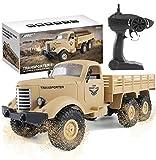 Camión Militar RC, Escala 1:16, 2.4G, 6WD, camión Pesado de Control Remoto para vehículos Todoterreno, Coche de Juguete de proporción Completa para niños y Adultos