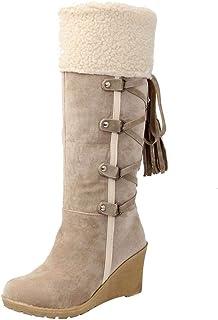 WWricotta dames winterlaarzen   kwast wighak vrijetijdsschoenen   motorlaarzen   winterboots schoenen   sneeuwschoenen (,)