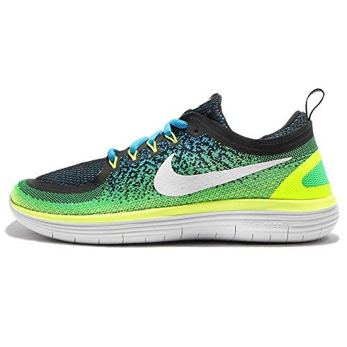 Nike Mens Free Rn Distance 2 Running Shoe (12 D(M) US, Chlorine Blue/White)
