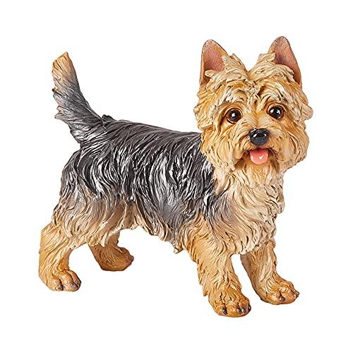 zeng Sculture di Cani Simulazione Cane Ornamenti Cane Statua Soggiorno Home Furnishings all'aperto Decorazioni del Giardino Yorkshire Terrier Scultura