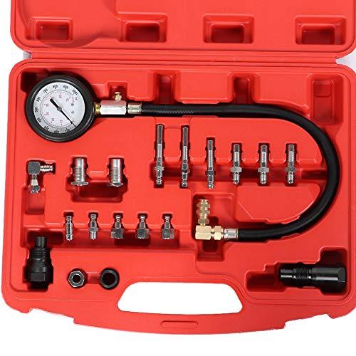 SEDOOM Kit De Calibre del Probador De Presión del Cilindro del Motor Diesel, Herramienta De Diagnóstico De Fugas Automotrices 0-1000PSI