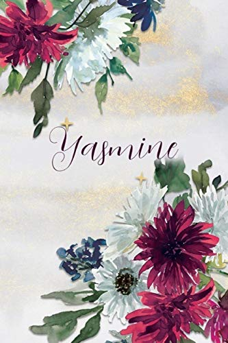 Yasmine: Personalized Journal Gift Idea  for Women (Burgundy and White Mums)