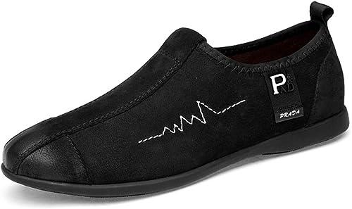GPF-fei Chaussure pour Homme, Cuir Mocassins Pois Chaussures Mocassins & Slip-ONS Mocassins Bateau Chaussures Conduite Chaussures Décontracté Chaussures Plates Chaussures d'affaires,noir,47