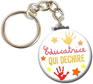 Porte Clés Chaînette 3,8 centimètre Éducatrice qui déchire Idée Cadeau Accessoire École Enfant Élève