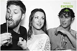 Jensen Ackles 8x10 photo Smallville Supernatural Dark Angel silly BW
