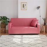 WXQY Funda de sofá elástica de Color sólido con Todo Incluido Funda de sofá Antideslizante protección para Mascotas Funda de sofá de Esquina en Forma de L A21 1 Plaza