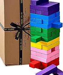 Jaques of London Farbe Wackelturm – perfekt Spiele ab 2 3 4 Jahren und großartig lernspielzeug ab 2 3 4 Jahren