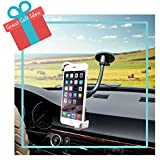 Mobile Phone Car Holder 2-in-1 Air vent & Windshield from Xobebe offers 360° Universal Fit. Mount Cellphone or GPS in Seconds with Adjustable secure Grip for iPhone 6, 6 plus, 5, 5s, 5c, Samsung Galaxy S5, S4, S3, Note 4 and most Smartphones. Perfect Secret Santa Holiday Gift !