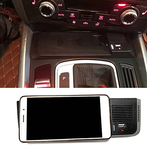 15w coche QI cargador de teléfono de carga inalámbrica soporte de teléfono inalámbrico placa de carga accesorios para Audi Q5 2009-2017 SQ5 2014-2017