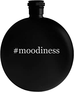 #moodiness - 5oz Hashtag Round Alcohol Drinking Flask, Black